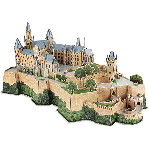CubicFun 3D Germany Puzzles Castle Architecture Building Model Kits Toys for Adults, Hohenzollern, 185pieces