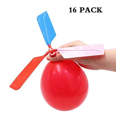 SBYURE 16 Pack Balloon Helicopter Kids Games and Party Games for Children's Day Gift,Birthday, Party Favor,Color Random: Toys & Games