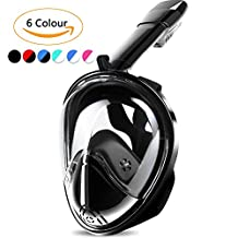 Snorkel Full Face Mask with GoPro Mount Design, Double Breath Space, Anti-Leak and Anti-Fog Technology, Mouthpiece-Free, Easybreath for Adults and Kids
