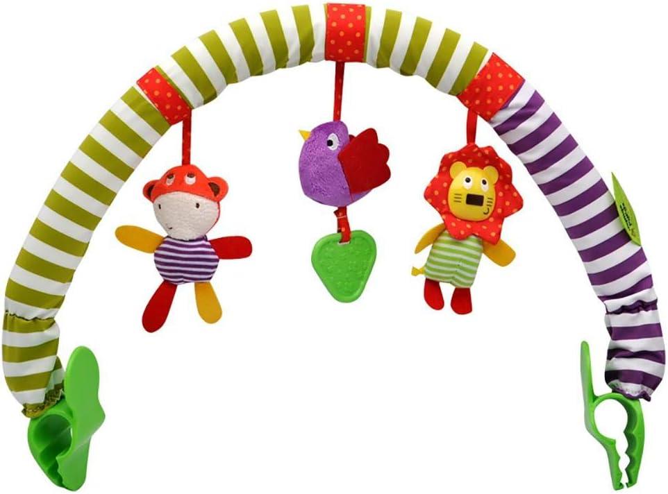 GEDEIHEN Colgando Campana bebé, Clip de Música de Bebé con Sonido, Arco de Juego para Silla para el Bebé Recién Nacido, es un Juguete de Actividades de Viaje para Bebés con 100% Seguro y Cómodo