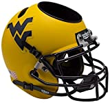 NCAA West Virginia Mountaineers Matte Gold Helmet Desk Caddy, One Size, White