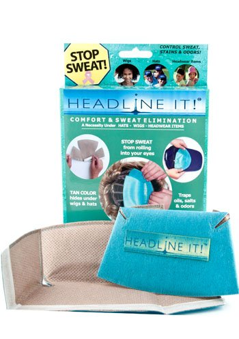 Headline It! Wicking Sweat Liner for Wigs As Pictured