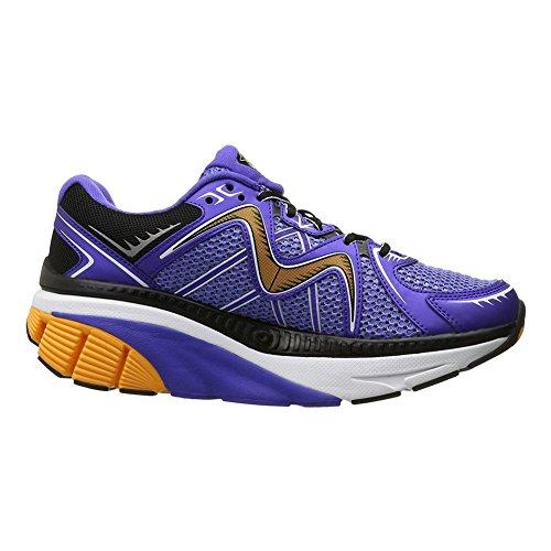 MBT Men's Zee 16 Running Shoe, Steel Blue/Orange/Black, 8.5 M US Mbt Physiological Footwear
