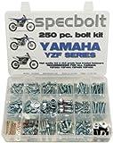 250pc Specbolt Bolt Kit for Yamaha YZF250 YZF400 YZF426 YZF450 OEM Spec Matching Hardware Fasteners for Maintenance Restoration YZF 250 400 426 450 YZ250F YZ400F YZ426F YZ450F