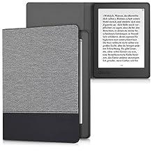 kwmobile canvas cover for Kobo Aura H2O Edition 2 - linen e-book case cover protective cover in dark grey black