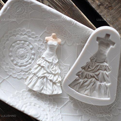 Astra Gourmet 1pc Wedding Dress Fondant Mold Silicone Cake Decorating Sugar Chocolate Mould(Random Color) ()