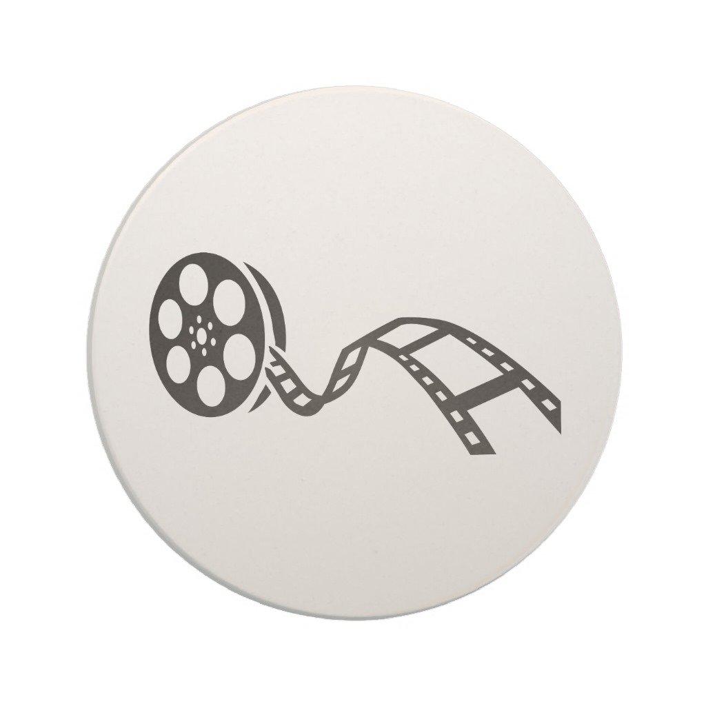 Zazzle Movie Film Reel Sandstone Coaster