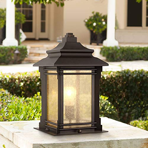 Hickory Point Asian Outdoor Light Fixture Bronze 16.5