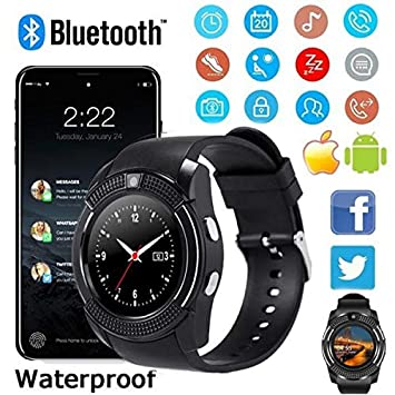 Amazon.com: FAIYIWO V8 Watchs Wireless Smart Watch Phone ...