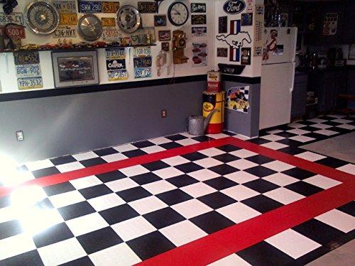 amazoncom speedway interlocking garage flooring 6 lock diamond tile black 25 pack home improvement - Garage Tiles