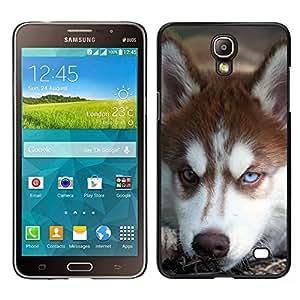 TopCaseStore / la caja del caucho duro de la cubierta de protección de la piel - Alaskan Malamute Siberian Husky Dog - Samsung Galaxy Mega 2