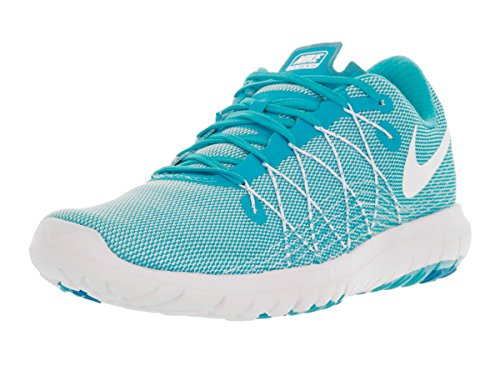 Nike Womens Flex Fury 2 Scarpa Da Corsa Bianco / Blu Gamma / Blu Laguna