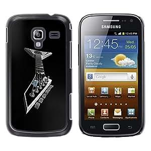 "For Samsung Galaxy Ace 2 , S-type Guitarra del metal"" - Arte & diseño plástico duro Fundas Cover Cubre Hard Case Cover"