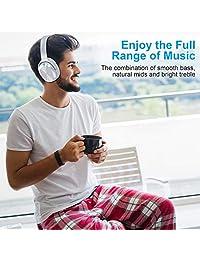 Auriculares con cancelación activa de ruido, auriculares inalámbricos RCA Bluetooth 5.0 con micrófono, almohadillas plegables de proteína suave, 25 horas de tiempo de reproducción para viajes, trabajo, TV, PC, teléfono móvil