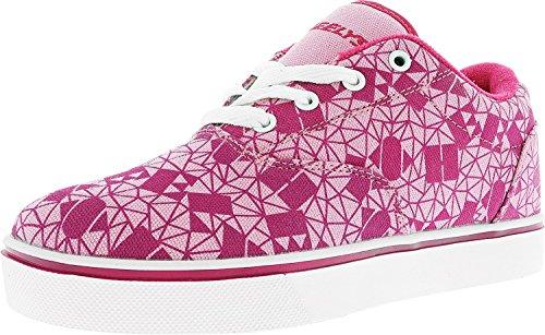 Heelys Girls' Launch Sneaker, Light/Hot Pink, 5 M US Big Kid