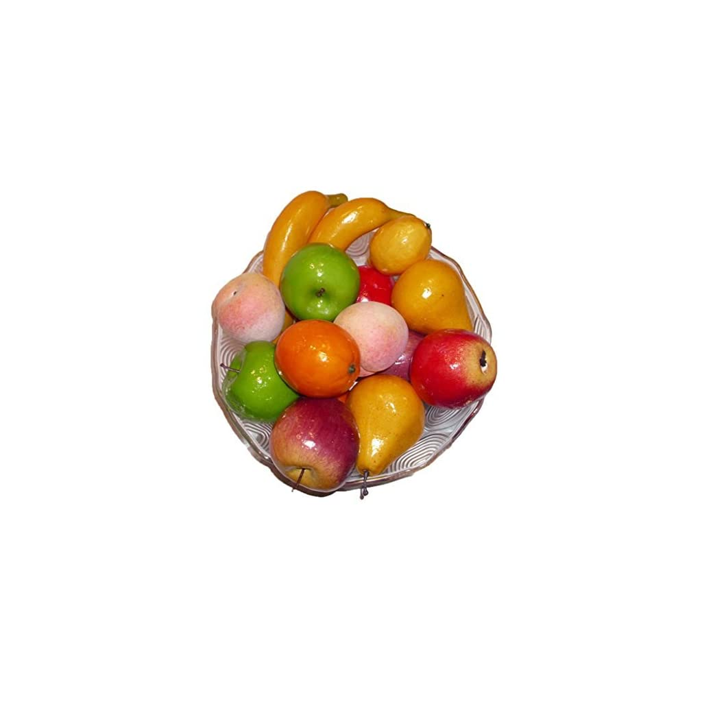 Artificial-Apples-Oranges-Bananas-Pears-Peaches-and-Lemons-Set-of-17-Fruits
