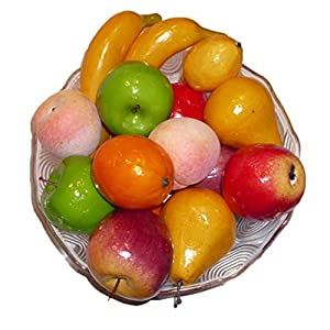 Artificial Apples, Oranges, Bananas, Pears, Peaches and Lemons - Set of 17 Fruits 17