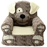 Sweet Seats | Brown Dog Children's Chair | Large Size | Machine Washable Cover
