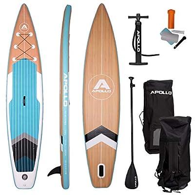 Apollo SUP Board, iSUP Komplettset, Stand-up-Paddling Set, aufblasbares Board, inkl. Paddel, Pumpe und Reparaturset, für…