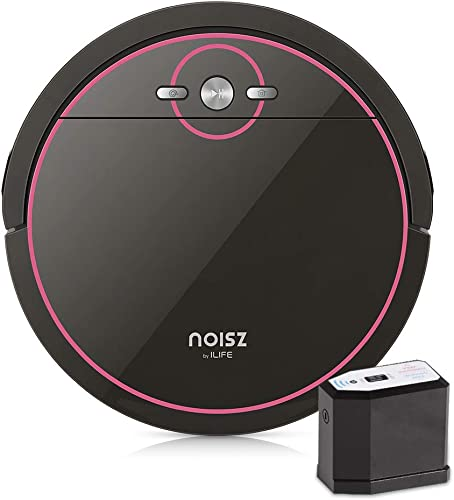Noisz by ILIFE Noisz S5 Robot Vacuum Cleaner with MAX Mode, Tangle-free Suction Port, Virtual Barrier, Slim Quiet, Programmable, Ideal for Hardwood, Tile, Laminate and Stone