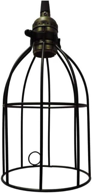 Benzara C491-JLC7013 Metal Bird Cage Style Lampshade Chandelier One Bulb Ceiling Pendant Black