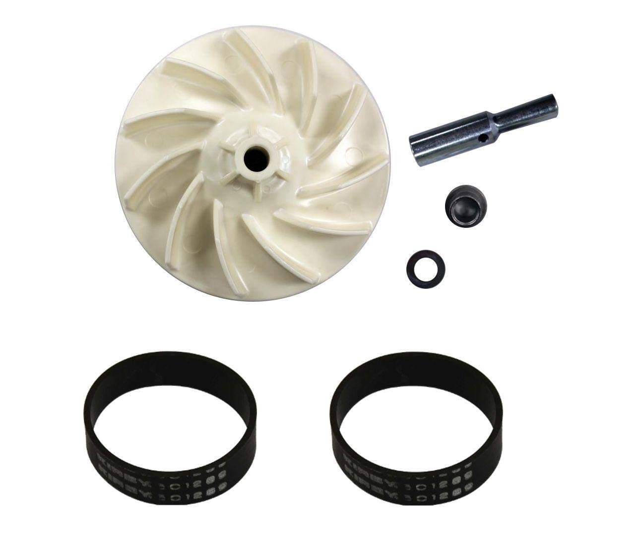 New Vacuum Pars Kirby Heritage and Legend Impeller Fan and (2) Belt Kit - New
