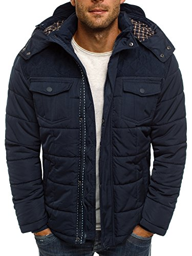 Jacket Lined Style Jacket J Warm Dark Blue Parka Jacket 3046 Sports Jacket OZONEE Winter Sweater Jacket Jacket Men's Boyz Long 1041 Parka J qSaXII