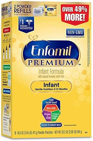 Enfamil PREMIUM Non-GMO Infant Formula - Powder Refill Box, 33.2 oz