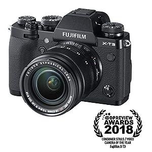 Fujifilm X-T3 Mirrorless Digital Camera w/XF18-55mm Lens Kit – Black