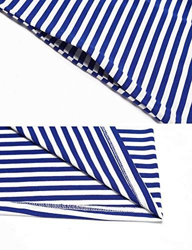 Ekouaer Women's Button up Breastfeeding Nursing Maternity Dress Sleepwear with Pockets (Royal Blue M) by Ekouaer (Image #5)'