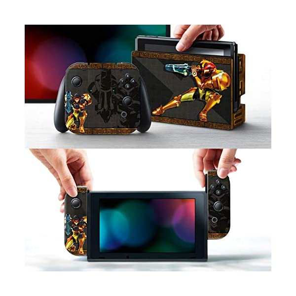 "Controller Gear Officially Licensed Nintendo Switch Skin & Screen Protector Set - Metroid - ""Samus"" - Nintendo Switch 2"