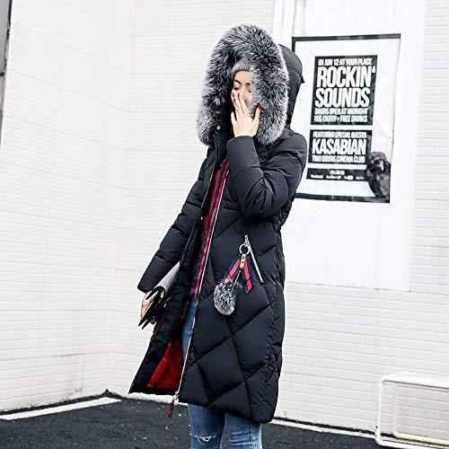 Cappotti Donna Imbottitura Manica Cappotto Schwarz Colore Trapuntato Cerniera Puro Autunno Lunga Cappotto Invernali Casual Trapuntata Invernali Chiusura Piumino A Giovane Calda Giacca Fashion Lunga rH1X6rq