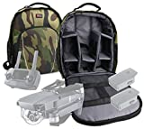 Camouflage Water-Resistant Rucksack / Backpack with Customizable Interior & Raincover for the DJI Mavic PRO FLY / Tello - by DURAGADGET