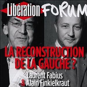 La reconstruction de la gauche ? Discours