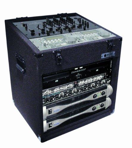 Odyssey CXC908 Econo Carpeted Combo Rack: 9u Top, 8u (Dj Rack)