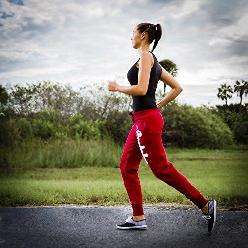 Brubaker N.Y. Eagle American Style - Pantalones de entrenamiento para mujer, en 6colores, tallas S-XL rojo burdeos