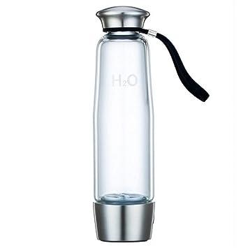 UTNF Botella De Agua del Ionizador del Vidrio del Agua De La Salud Recargable De La