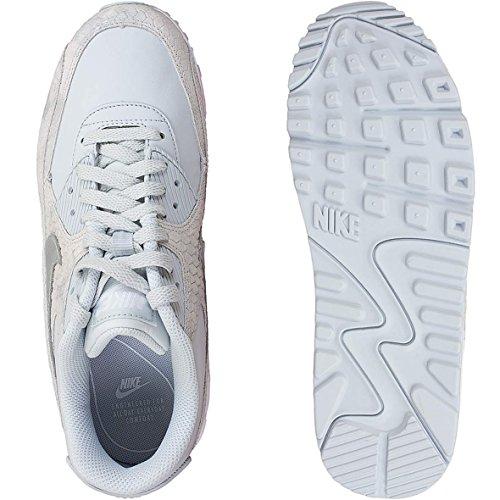 Nike Air Max 90 Premium Sneaker Da Donna Trainer 896497-004 Platin / Bianco