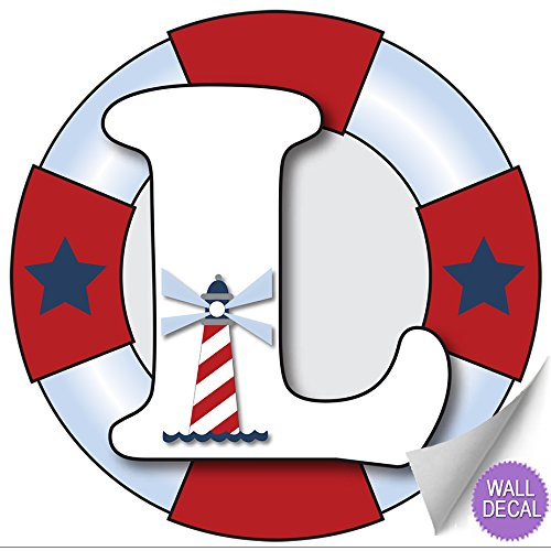 Nautical Stickers Alphabet Children Decorations product image