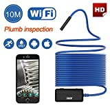 #9: Wireless Endoscope THZY HD 10m WiFi Borescope Inspection Camera 2.0 Megapixels Snake Camera for Android IOS Smartphone, iPhone, Tablet iPad Blue