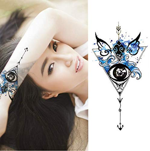 UPUPUPUP 1 Pieces/Set Small Full Flower Arm Temporary Waterproof Tattoo Stickers Fox Owl For Women Men Body Art