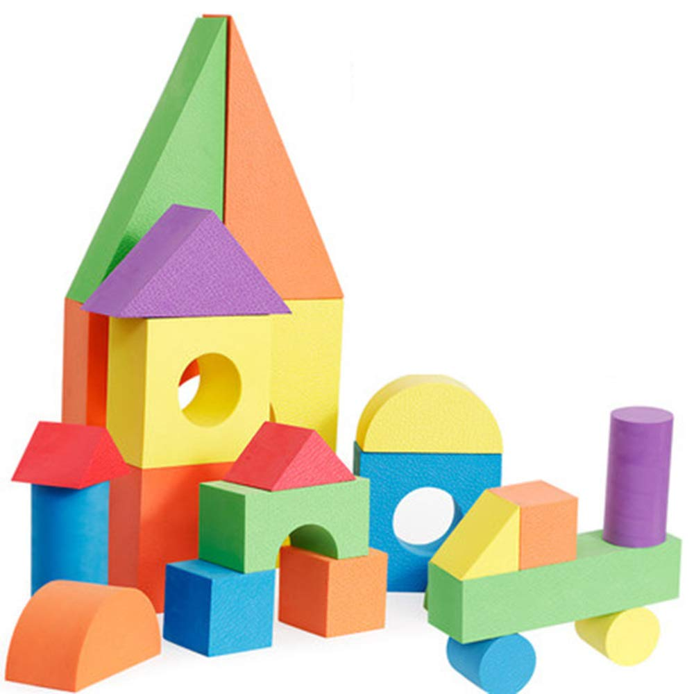 LZH Juguetes para para para Niños, Bloques De Construcción Grandes 1-2-3-6 Años Esponja Blanda Kindergarten Rompecabezas,6 945980