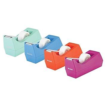 Scotch Dispensador de cinta adhesiva, 3 m, ordenador, varios colores: Amazon.es: Oficina y papelería