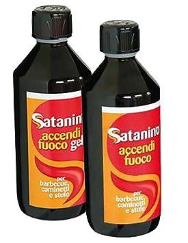Satanino - liquido encendedor para chimeneas, estufas, barbacoas - 0,5L: Amazon.es: Deportes y aire libre