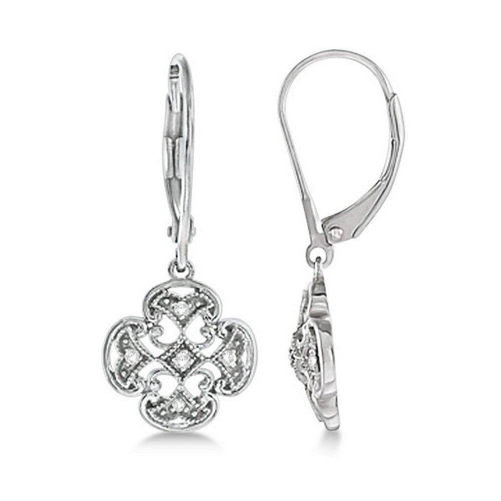 2.52 Ct Round Cut White Natural Diamond Teardrop Dangle Earrings Sterling Silver