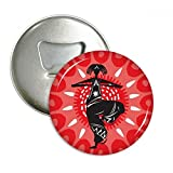 Dance Celebrate Silhouette Mexico Mexican Round Bottle Opener Refrigerator Magnet Pins Badge Button Gift 3pcs