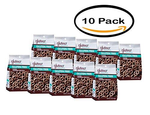 PACK OF 10 - Glutino Gluten Free Fudge Covered Pretzels 5.5 oz (Fudge Pretzel)