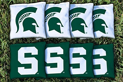 NCAA Replacement All Weather Cornhole Bag Set NCAA Team: Michigan State Spartans - 8 Replacement Bean Bags