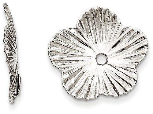 White Gold Earring Jackets - Finejewelers 14k White Gold Fancy Earring Jackets