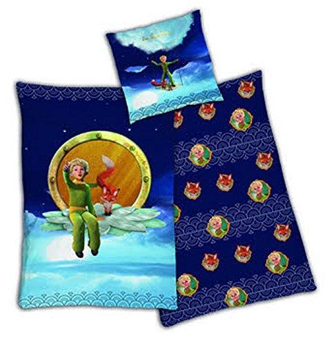 Bettwäsche Der kleine Prinz Der Kleine Prinz mit Fuchs Bezug 135x200cm Kissen 80x80cm Renforcé 100%Baumwolle mit Reißverschluss tex idea